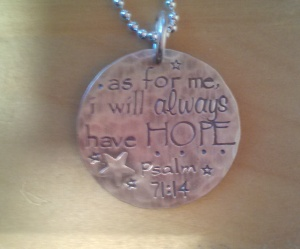 amazing hope necklace