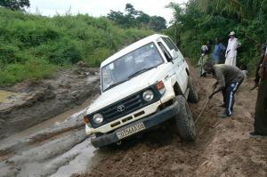 landcruiser stuck